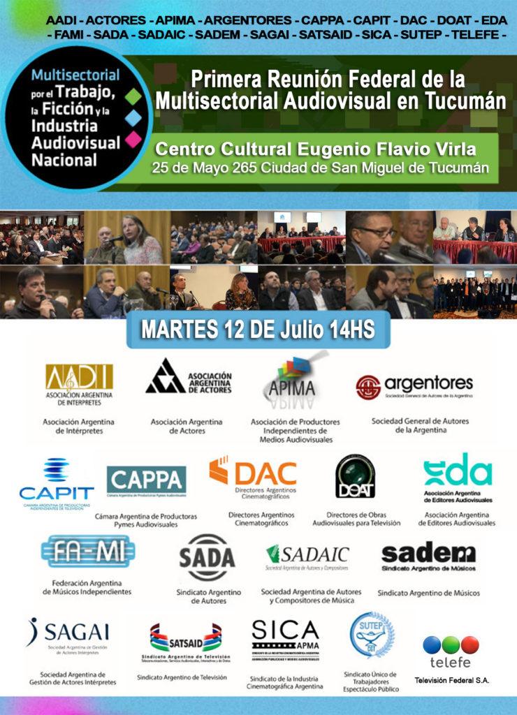 Primera Reunión Federal de la Multisectorial Audiovisual en Tucumán
