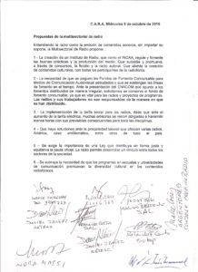 Multisectorial Radio Declaración