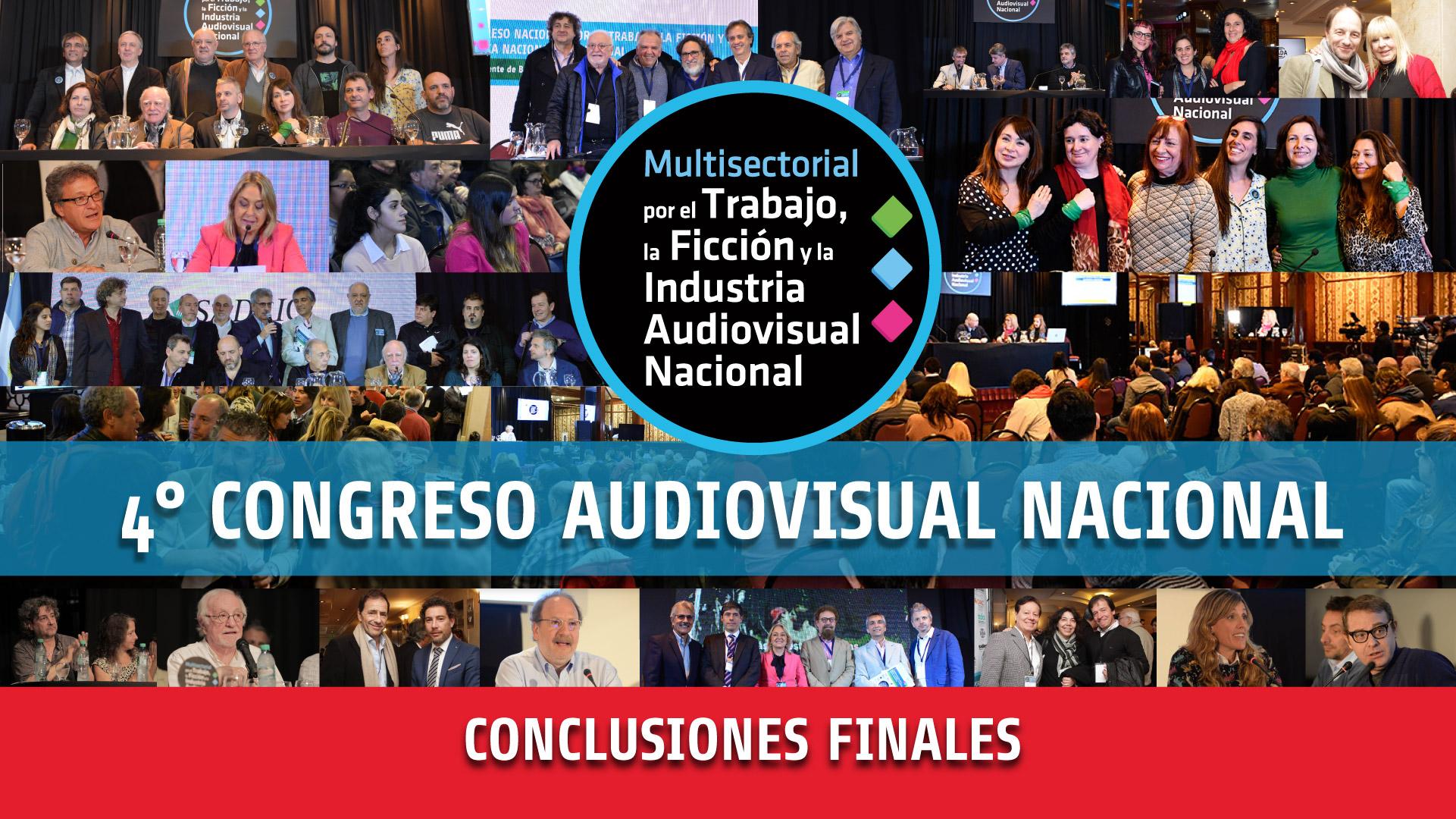 Conclusiones finales del 4° Congreso Audiovisual 2019